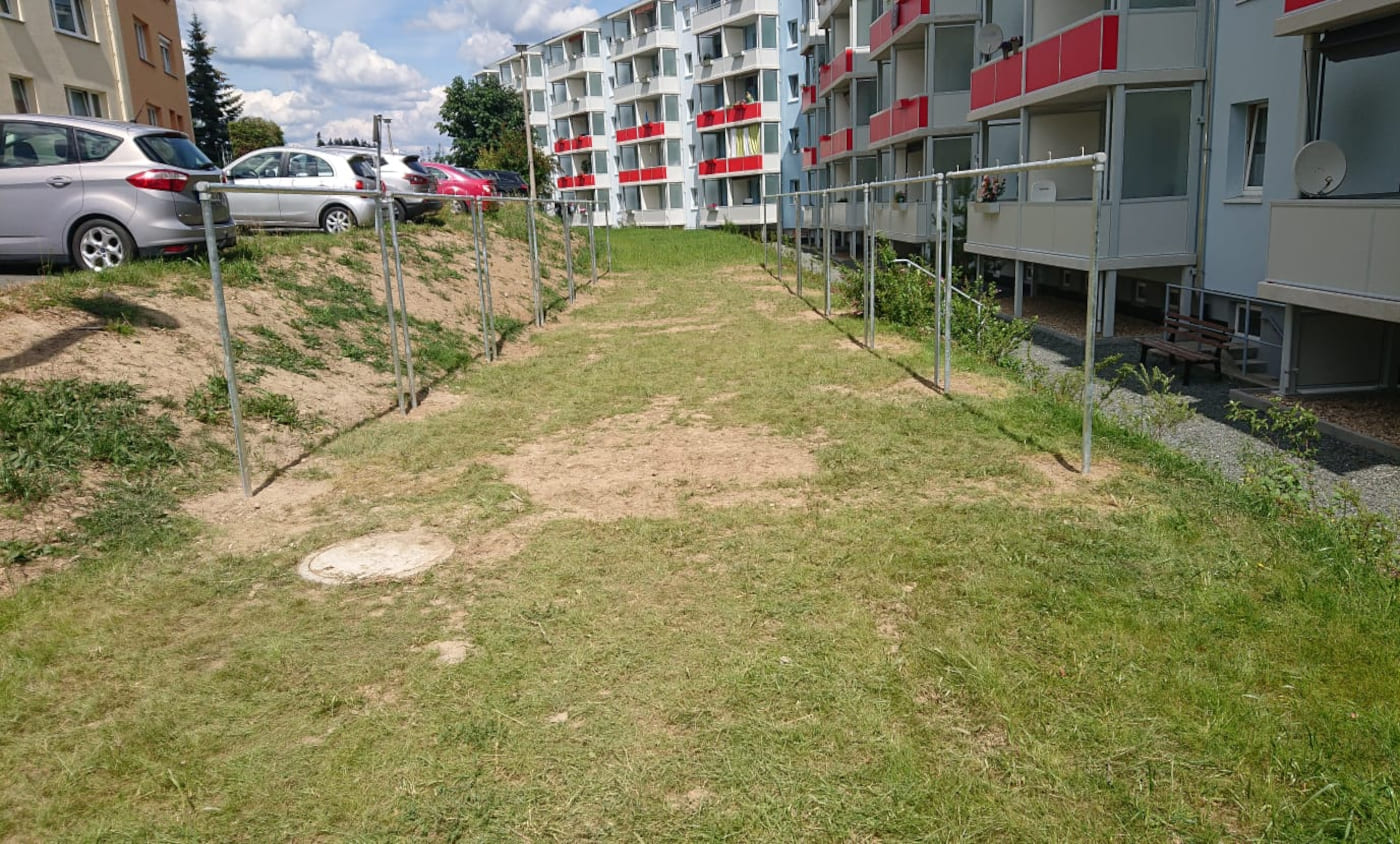Beitragsbild - Aufbau von Wäschegerüste für AWG Bad Lobenstein
